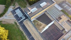 Réalisation de terrains de sport et de marquage au sol au nouveau collège d'Hillion