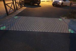 Résine gravillonnée photoluminescente